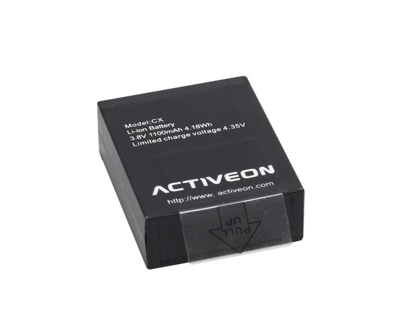 ACTIVEON ACA01RB Rechargeable Battery for CX Camera (Black)