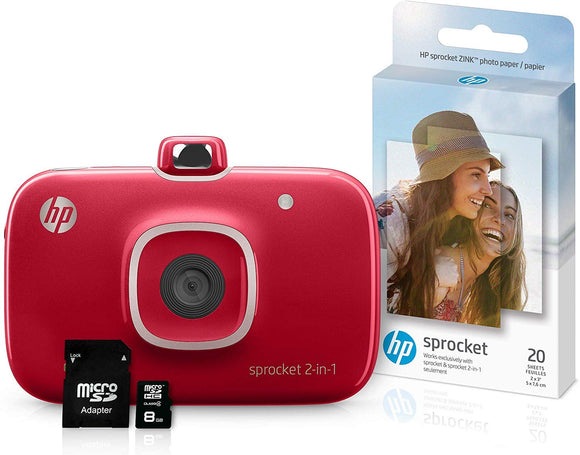 HP Sprocket Portable Photo Printer with ZINK® Sticky-Backed Photo Paper - Parent - X7N08A