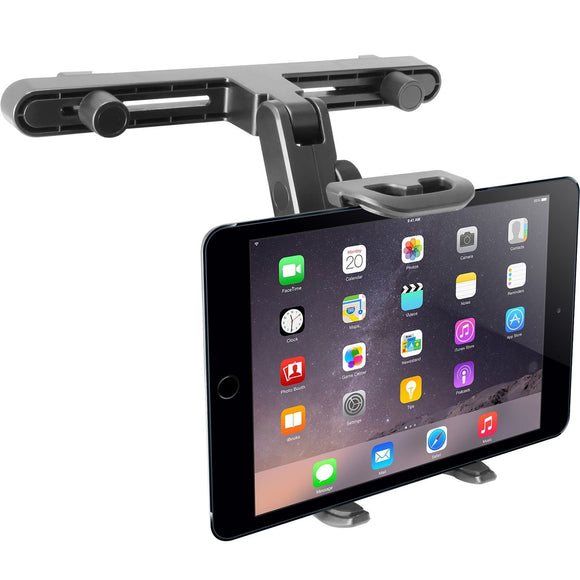 Macally Adjustable Car Seat Headrest Mount and Holder for Apple iPad Air/Mini, Samsung Galaxy Tab, Kindle Fire, Nintendo Switch, and 7
