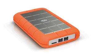 SEAGATE LaCie Rugged Triple USB 3.0/Firewire 800 2TB Portable Hard Drive , Aluminium/Orange