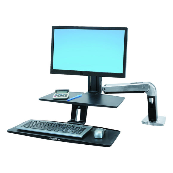 Ergotron Workfit-A Stand with Suspended Keyboard (24-391-026)