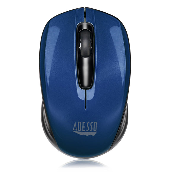 Adesso Ergonomic iMouse S50 - Wireless Optical Mouse (Blue)