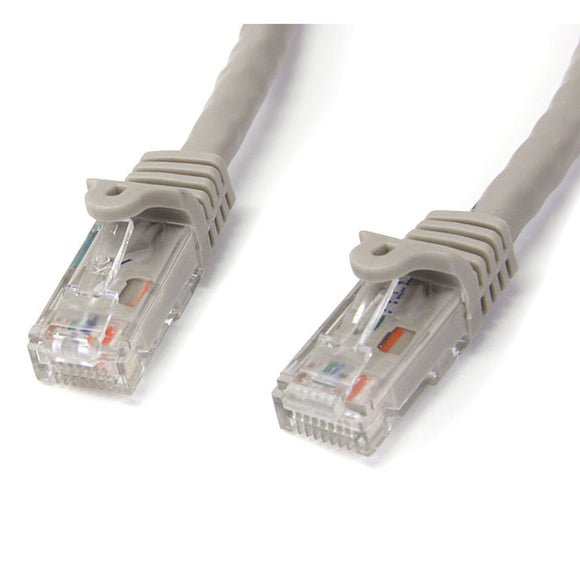 StarTech.com N6PATCH10GR Gigabit Snagless RJ45 UTP Cat6 Patch Cable, 10-Feet (Gray)