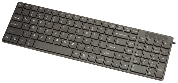Manhattan Slimline Edge USB Keyboard (177917)