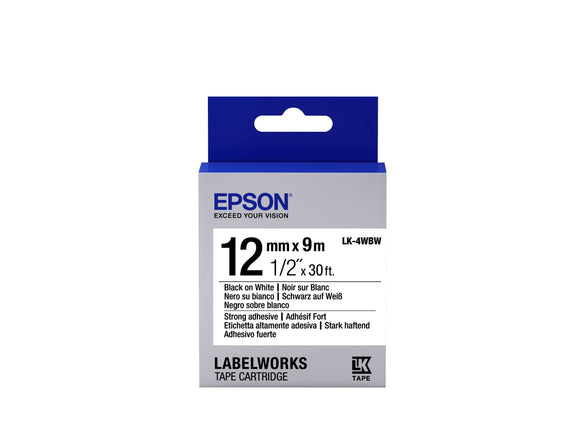 Epson LabelWorks Strong Adhesive LK Tape Cartridge 1/2