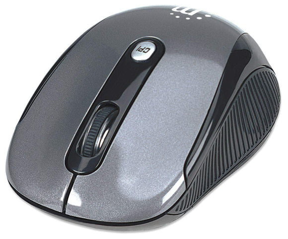 Manhattan Performance Wireless 2000 Ddi USB Optical Mouse with Four Buttons and Scroll Wheel (177795)