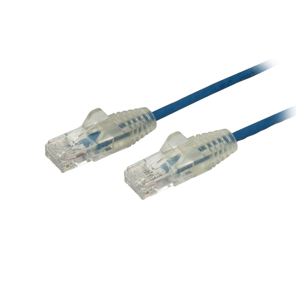 StarTech.com Cat6 Ethernet Cable - 6 in - Blue - Slim - Snagless RJ45 Cable - Network Cable - Ethernet Cord - Cat 6 Cable - 6in (N6PAT6INBLS)