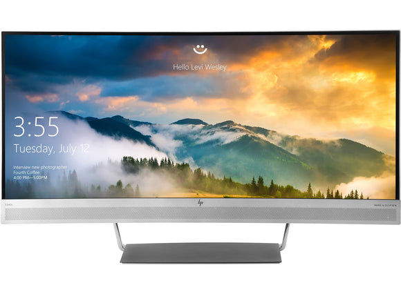HP EliteDisplay 34-Inch Screen LED-Lit Monitor Black/Silver (V4G46A8#ABA)