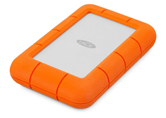 LaCie Rugged Mini 4TB External Hard Drive Portable HDD - USB 3.0 USB 2.0 compatible, Drop Shock Dust Rain Resistant Shuttle Drive for Mac , PC and  Laptop  (LAC9000633)