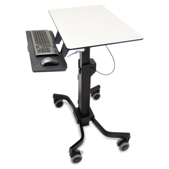Ergotron TeachWell Mobile Digital Workspace - Cart for Notebook/Keyboard / Mouse - Steel - Graphite Gray