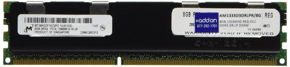 8gb Ddr3-1333mhz Pc3-10600 240p Dual Rank Lp Registered Ecc Dimm