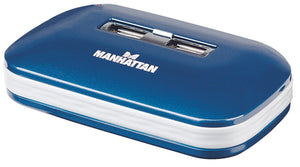 Manhattan 7-Port USB 2.0 Ultra Hub, Plug and Play C Windows and Mac Compatible