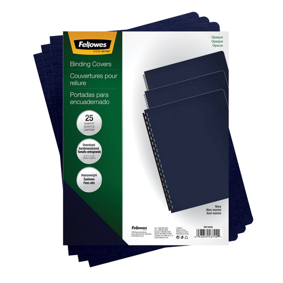 Fellowes 5224801 Futura Presentation Covers-Oversize, Navy, 25 Pack