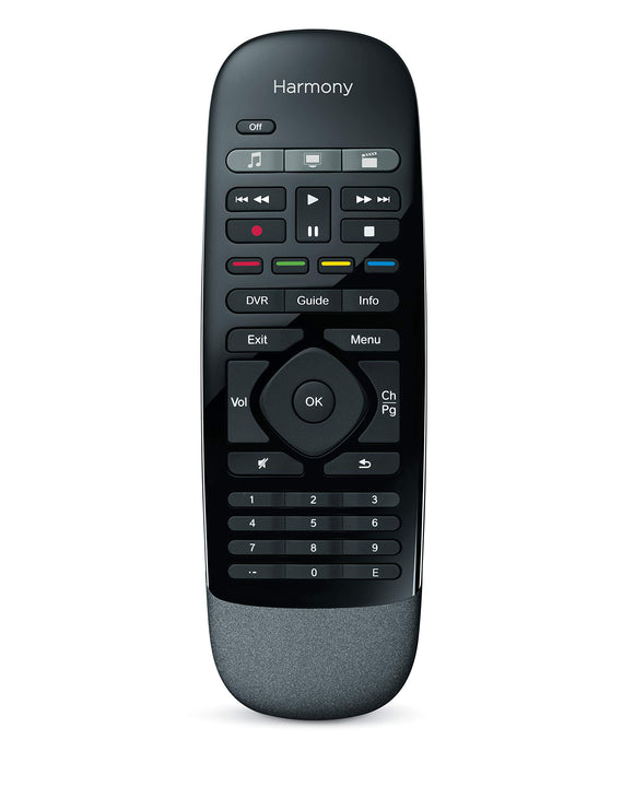 Refurbished Logitech Harmony Smart Control with Smartphone App and Simple All in One Remote - Black