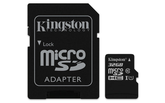 Kingston Digital 32GB Micro SDHC UHS-I Class 10 Industrial Temp Card with SD Adapter (SDCIT/32GB)
