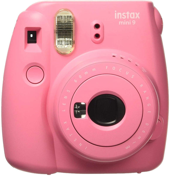 Instant Camera with Groovy Case & Photo Album Flamingo Pink Set Bundles