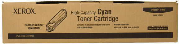 Xerox High Capacity Toner Cartridge for Phaser 7400 Printer -Cyan -Laser -18000 Page -1 Each