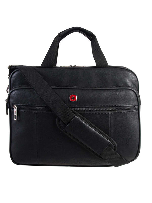Swiss Gear International Carry-On Size Top Load Case - Holds Up to 15.6-Inch Laptop, Black