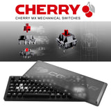 Cougar Puri TKL1 Mechanical Gaming Keyboard with Magnetic Protective Cover and Extra Set of Metallic Keycaps, Cherry MX Red