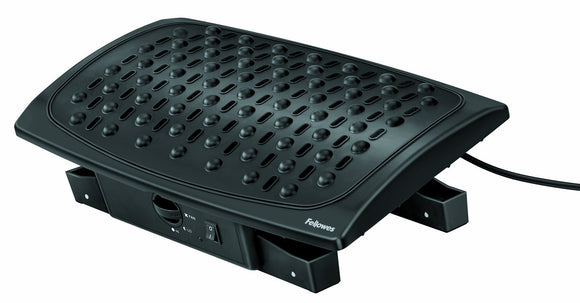 Fellowes 8040901 Climate Control Footrest, Black