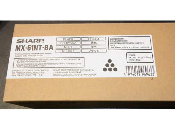 Sharp MX-60NTBA Black Toner Cartridge for USE in MX3050N MX3070N MX3550N MX3570N