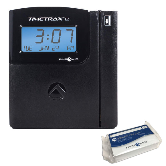 Pyramid TTEZ TimeTrax Automated Swipe Card Time Clock System with Software Download, USB Connect - Made in USA