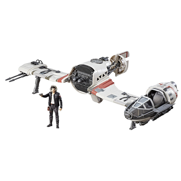Star Wars Force Resistance Ski Speeder and Captain Poe Dameron Figure