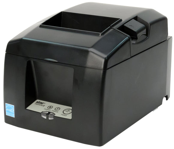 Open Box Star Micronics, TSP654IICLOUDPRNT-24, Thermal Printer, Auto-Cutter, Ethernet, CloudPRNT, External Power Supply, Gray