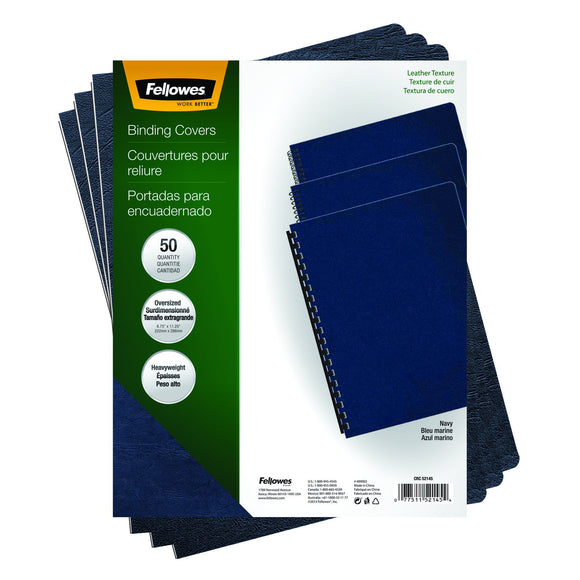 Fellowes Executive Presentation Cover, 11-1/4-Inch x 8-3/4-Inch, 50 Per-Pack, Navy (52145)
