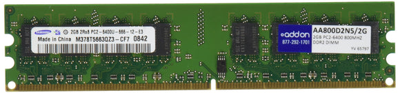 2gb 800mhz Ddr2 Pc2-6400 Cl5 240-Pin 2.1v Industry Standard Dimm