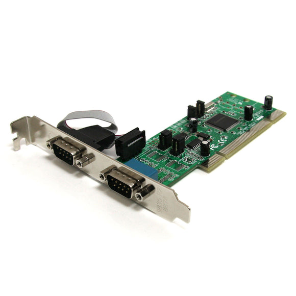 StarTech.com 2 Port PCI RS422/485 Serial Adapter Card with 161050 UART - Serial Adapter - PCI-X - RS-422/485 x 2 - PCI2S4851050
