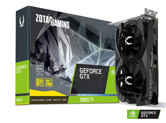 ZOTAC Gaming FeForce GTX 1660 Ti 6GB GDDR6 192-bit Gaming Graphics Card (ZT-T16610F-10L)