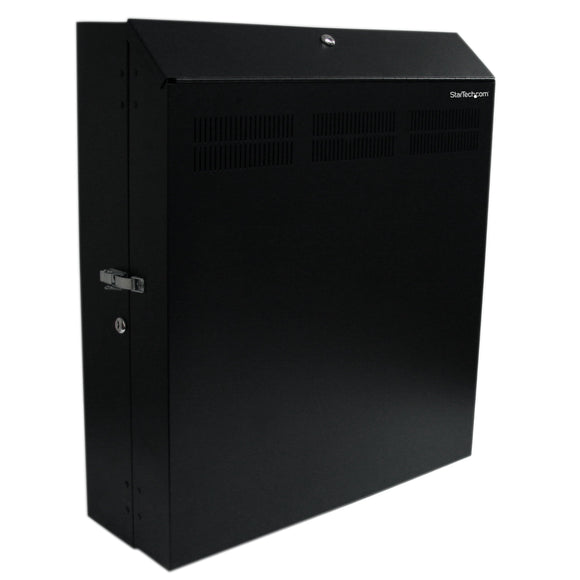 StarTech.com Wall-Mount Server Rack with Dual Fans and Lock - Vertical Mounting Rack for Server - 4U (RK419WALVS)