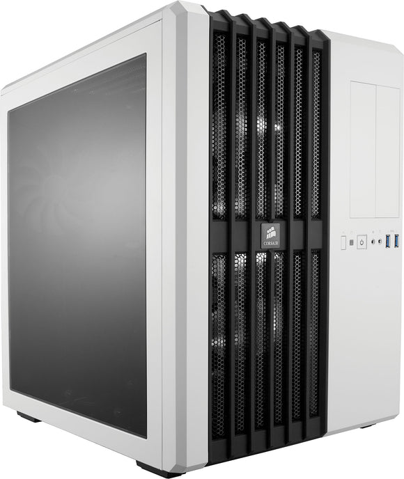 Corsair CC-9011048-WW Carbide Series Air 540 Windowed ATX High Airflow Cube Performance Computer Case with White LED Fan - Arctic White
