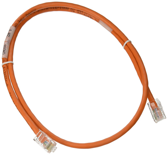 C2G 24494 Cat5e Crossover Cable - Non-Booted Unshielded Network Patch Cable, Orange (3 Feet, 0.91 Meters)