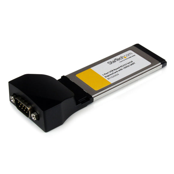 StarTech.com 1 Port ExpressCard to RS232 DB9 Serial Adapter Card w/ 16950 - USB Based (EC1S232U2)