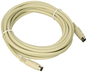 C2G 09472 PS/2 M/M Keyboard/Mouse Cable, Beige (15 Feet, 4.57 Meters)