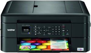 Used Brother MFC-J480DW - Wireless Inkjet Color All-in-One Printer w Auto Document Feeder, Amazon Dash Replenishment Enabled