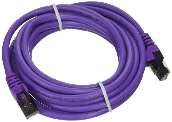 10ft Cat6 Purple Snagless Patch Cable Rj45m/Rj45m