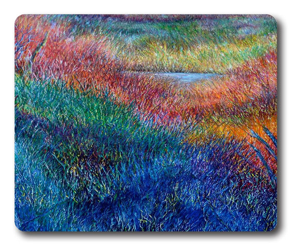 Rainbow Prairie Painting Square mouse pad Printing pads 9 * 7.5inch
