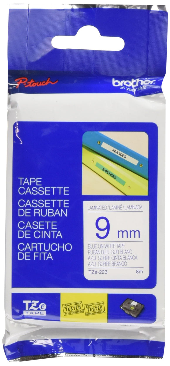 Brother Labelling Tape - Blue on White
