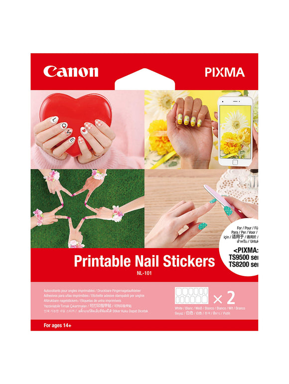 Canon NL-101 Printable Nail Stickers (2 Sheets/Pkg)