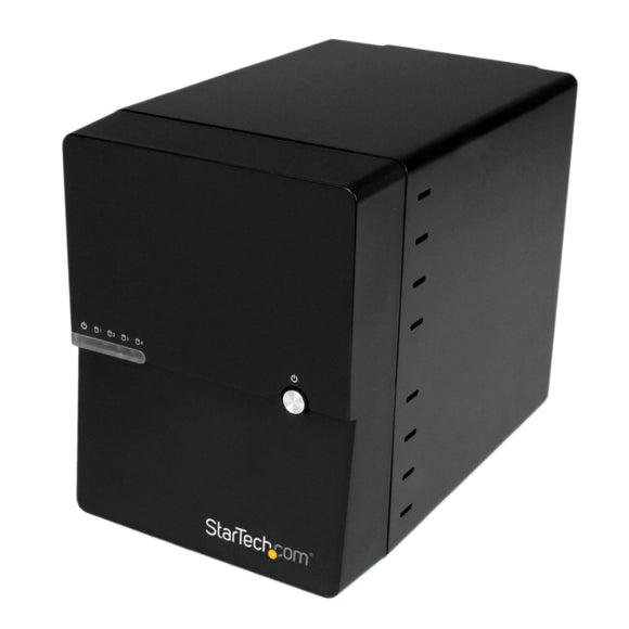 STARTECH USB 3.0/eSATA 4-Bay SATA III Hard Drive Enclosure with Built-In HDD Fan and UASP (S3540BU33E)