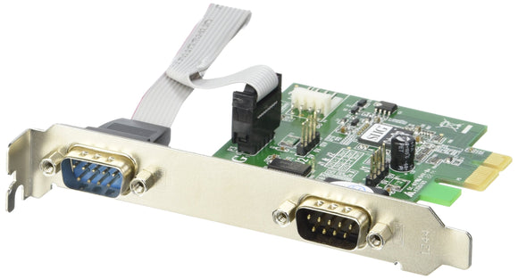 SIIG JJ-E10D11-S3 2-Port RS232 Cyberserial Dual Pcie Bracket