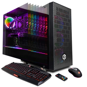 CYBERPOWERPC Gamer Supreme Liquid Cool SLC10000CPGV3 w/Intel Core i7-9700K 3.6GHz Gaming Computer