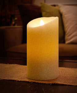 "Aluratek ALC3507F 7"" Flameless LED Wax Candle with Built-in Timer, Cream"