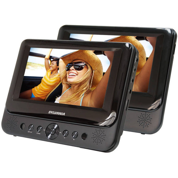 Sylvania SDVD7750 Dual 7-Inch Portable LCD DVD Player - Black