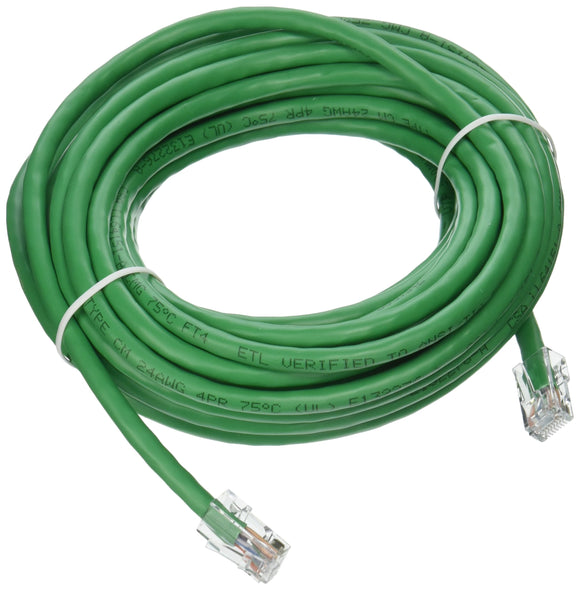 C2G 04141 Cat6 Cable - Non-Booted Unshielded Ethernet Network Patch Cable, Green (25 Feet, 7.62 Meters)