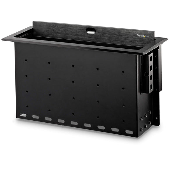 Dual-Module Conference Table Connectivity Box - for Adding Power/Charging/AV/Laptop Docking Modules - Cable Organizer (BOX4MODULE)