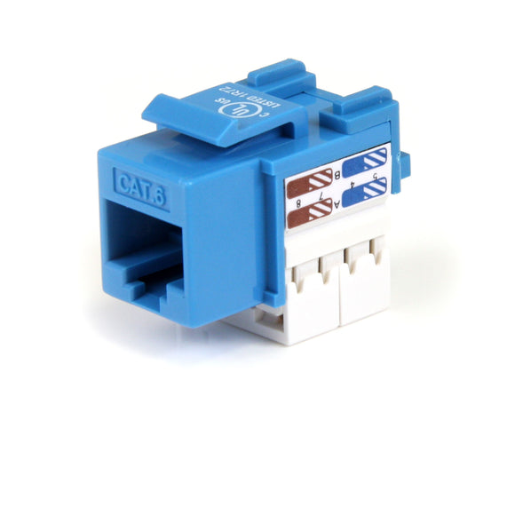 StarTech.com C6KEY110BL Cat 6 RJ45 Keystone Jack Blue, 110 Type